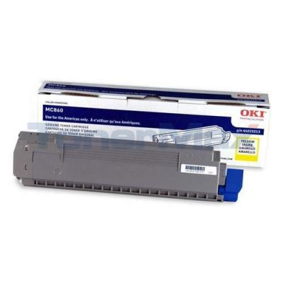 OKIDATA MC860 TONER CARTRIDGE YELLOW
